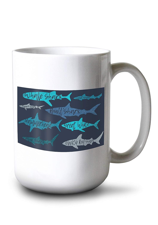 注目ブランド Sharksパターン 15oz – Shark名 – Mug 海軍背景 Canvas Tote Canvas Bag LANT-86082-TT B07KJFH4G5 15oz Mug 15oz Mug, コクミンドラッグ:128c3b07 --- vezam.lt