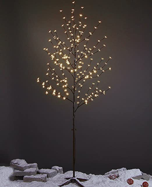 Amazon.com: LIGHTSHARE 6Ft 208L LED Lighted Cherry Blossom Tree ...