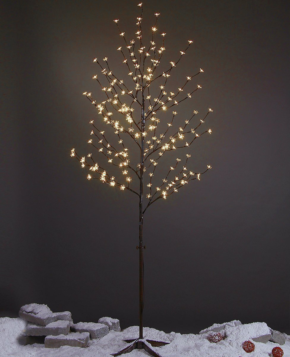 LIGHTSHARE 6Ft 208L LED Lighted Cherry Blossom Tree, Warm White, Decorate Home Garden, Summer, Wedding, Birthday, Christmas Holiday, Party, for Indoor and Outdoor Use