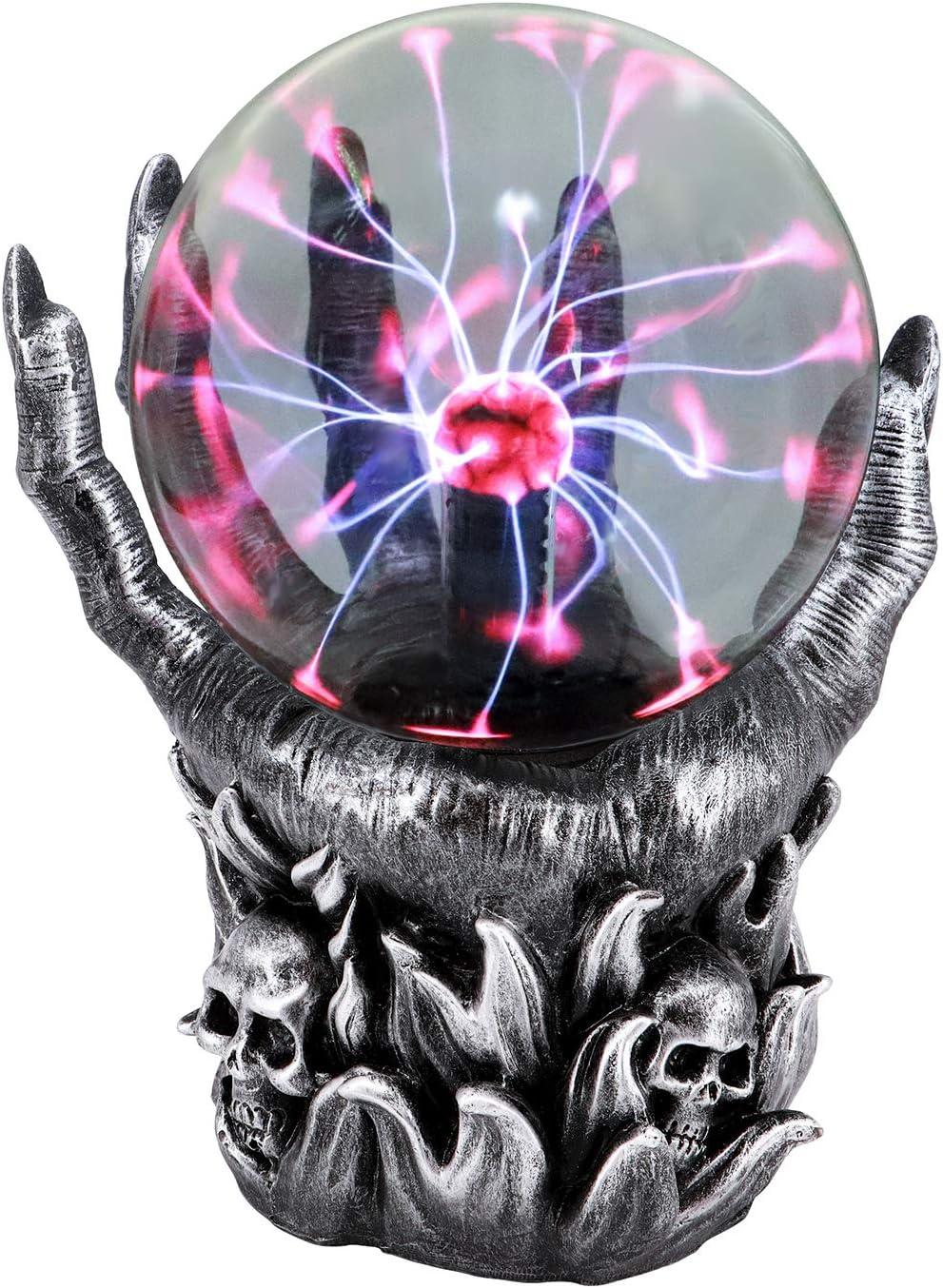 Luces Decorativas Sensibles Al Tacto Activadas Por Sonido Alimentadas Por Usb,Bola M/áGica Para Fiestas Decoraciones Atrezzo Regalos Infantiles Bola Plasma Grande Xl Bola de Plasma Magica 5 Pulgadas