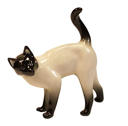 47e1dcb5805c9 Amazon.com: Siamese Thai Cat Lomonosov Porcelain Figurine: Home ...