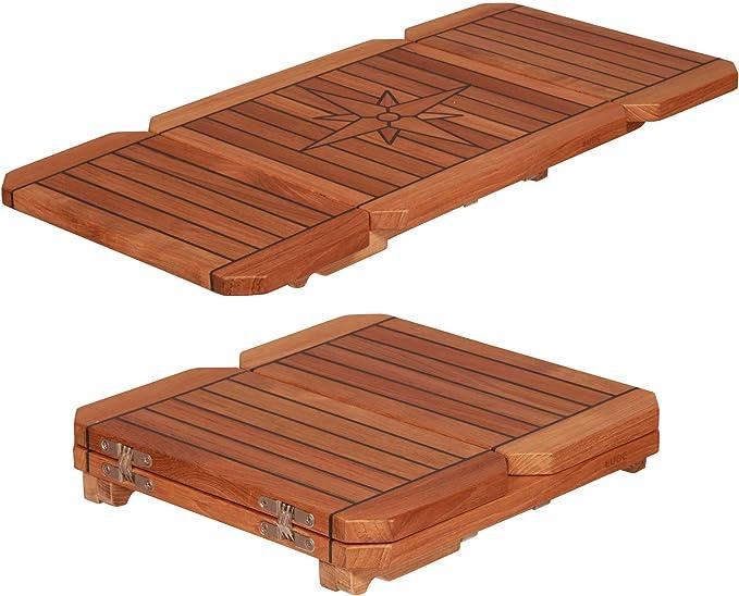 NAUTICMAN/® Mesa en la cabina del barco marino 60 CM x 90 CM teca cl/ásica