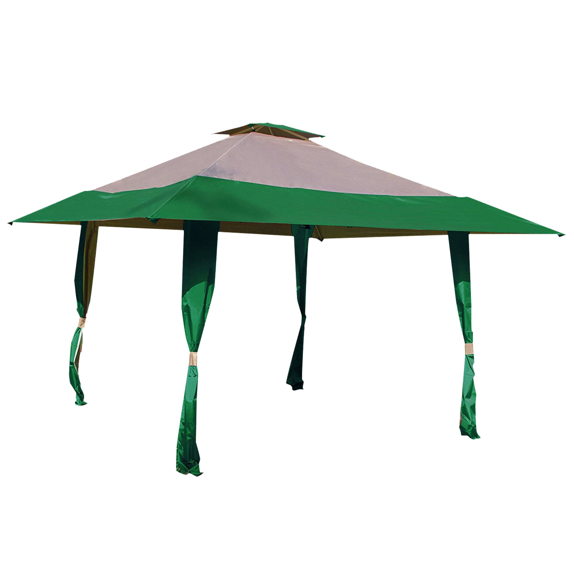 Cloud Mountain 13' x 13' Pop Up Canopy Outdoor Yard Patio Double Roof Easy Set Up Canopy Tent for Party Event, Hunter Green Tan by Cloud Mountain