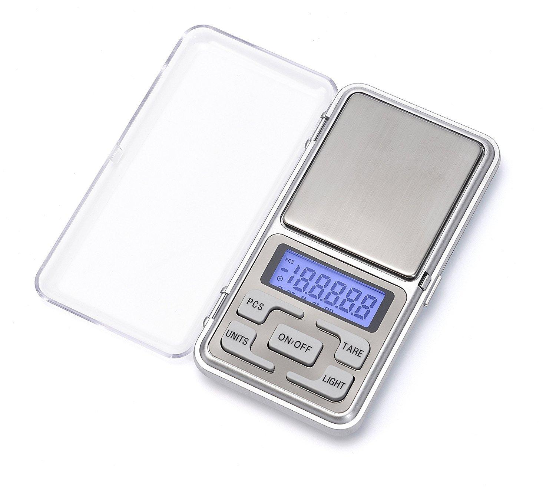 0.01g Mini Balance Num/érique de Poche pour les Bijoux// le th/é// la levure// le caf/é Cuisine Gram Balance /électronique,iitrust 500g