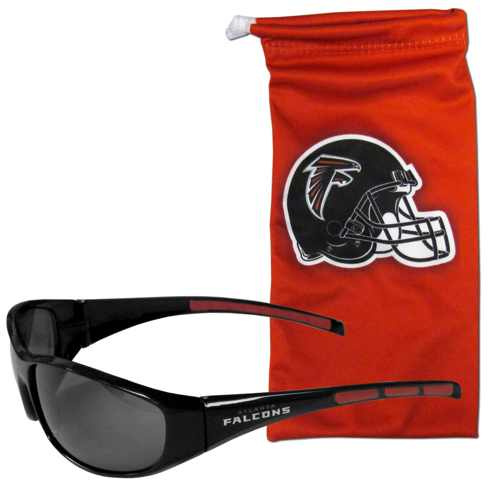 NFL Atlanta Falcons Adult Sunglass and Bag Set, Red