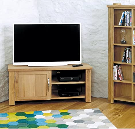 Kendall Televisión esquinero de roble armario/mueble para televisor – completamente montado: Amazon.es: Hogar