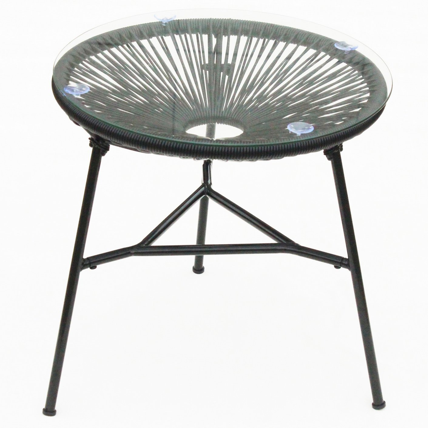 New Funky Modern Kids String Moon Chair with Steel tube frame legs Outdoor use