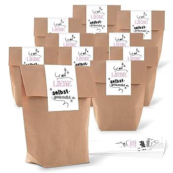5 pequeñas bolsas de papel marrón natural 16,5 x 26 x 6,6 cm +