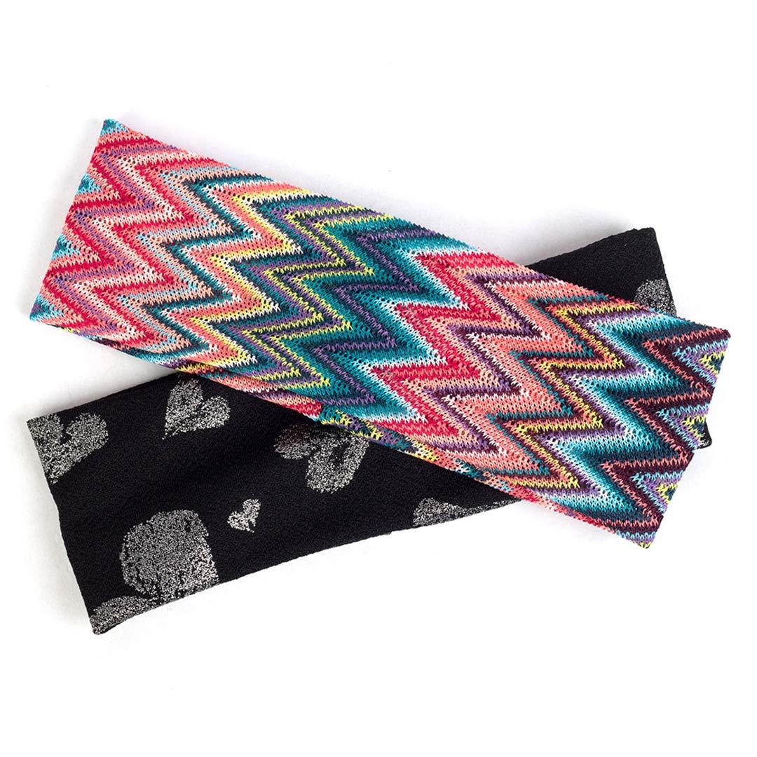Bohemia Hairband For Women Flat Headband Vintage Colorful Print Elastic Bands Headwear Hair