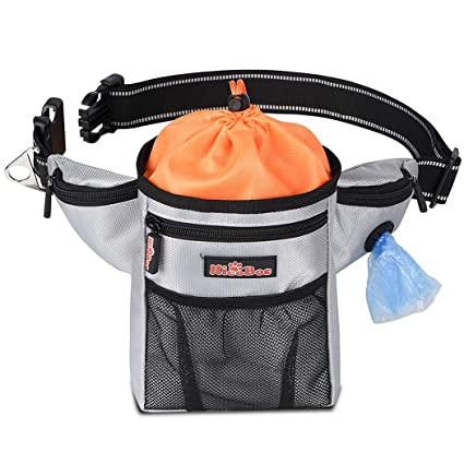 3755d3bfc43e Amazon.com : HICOBOS Dog Treat Training Pouch with Poop Bag ...