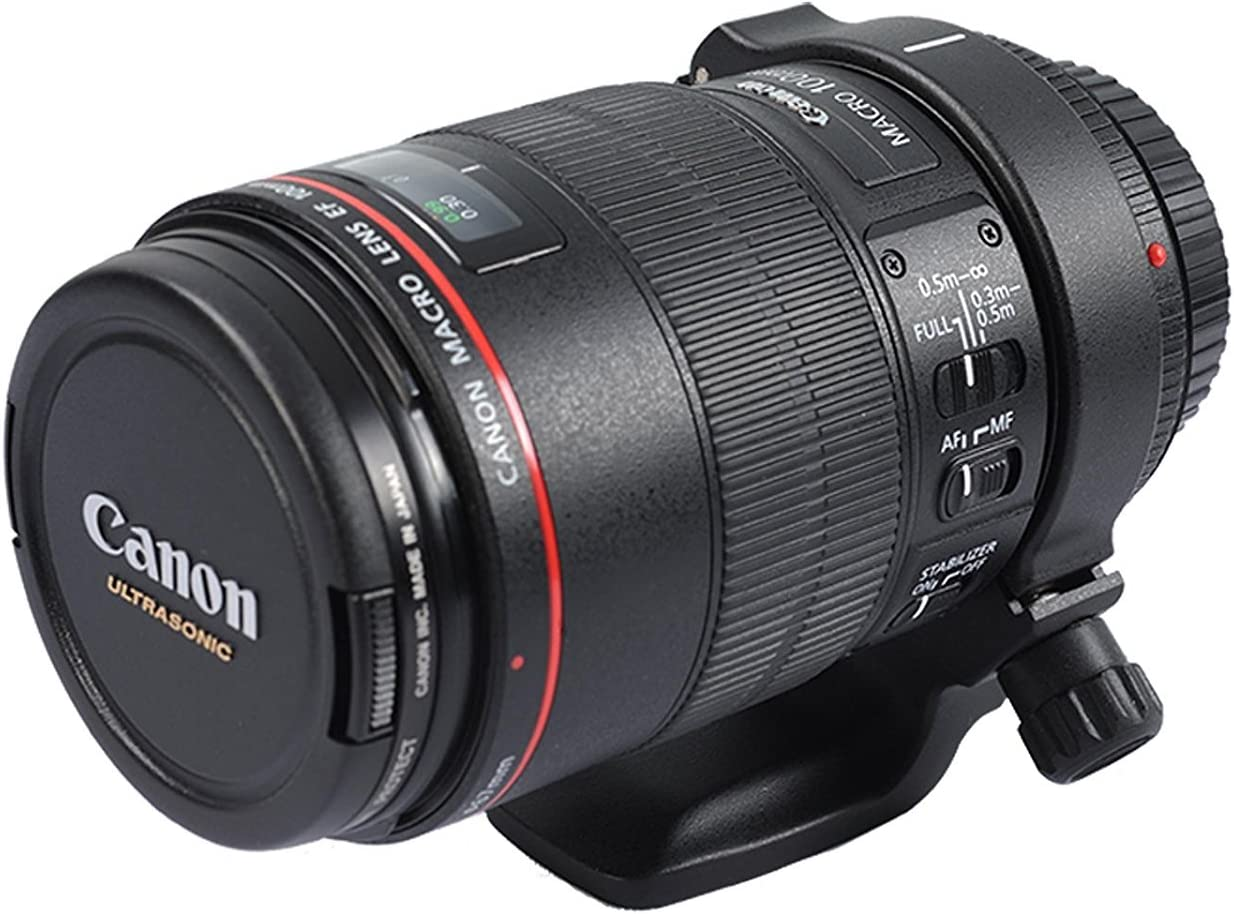 ISHOOT D Lens Collar Support for Canon EF 100mm f//2.8L is USM Macro Metal Tripod Mount Ring
