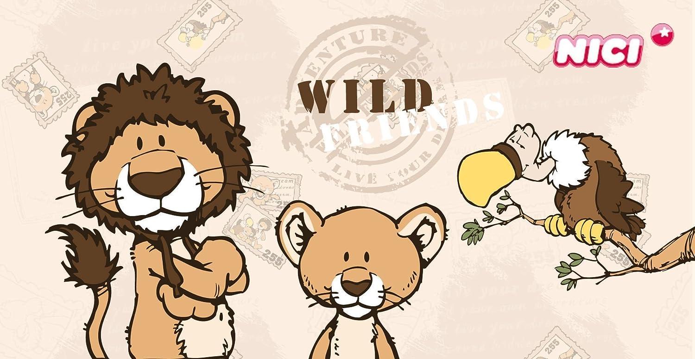 NICI Wall Clock Vulture and Lion Wild Friends 33740 Wild Animals