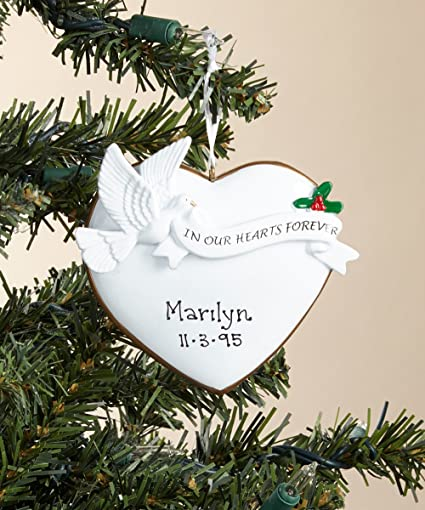 Remembrance Personalized Christmas Tree Ornament - Amazon.com: Remembrance Personalized Christmas Tree Ornament: Home