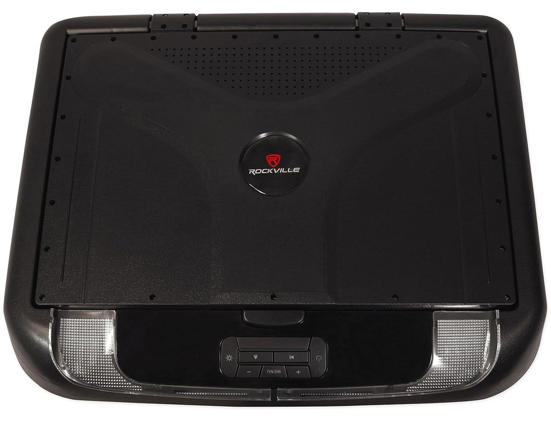 "Amazon.com: Rockville RVD17HD-BK Black 17"" Flip Down Car Monitor  DVD/HDMI/USB/SD/Games: Musical Instruments"