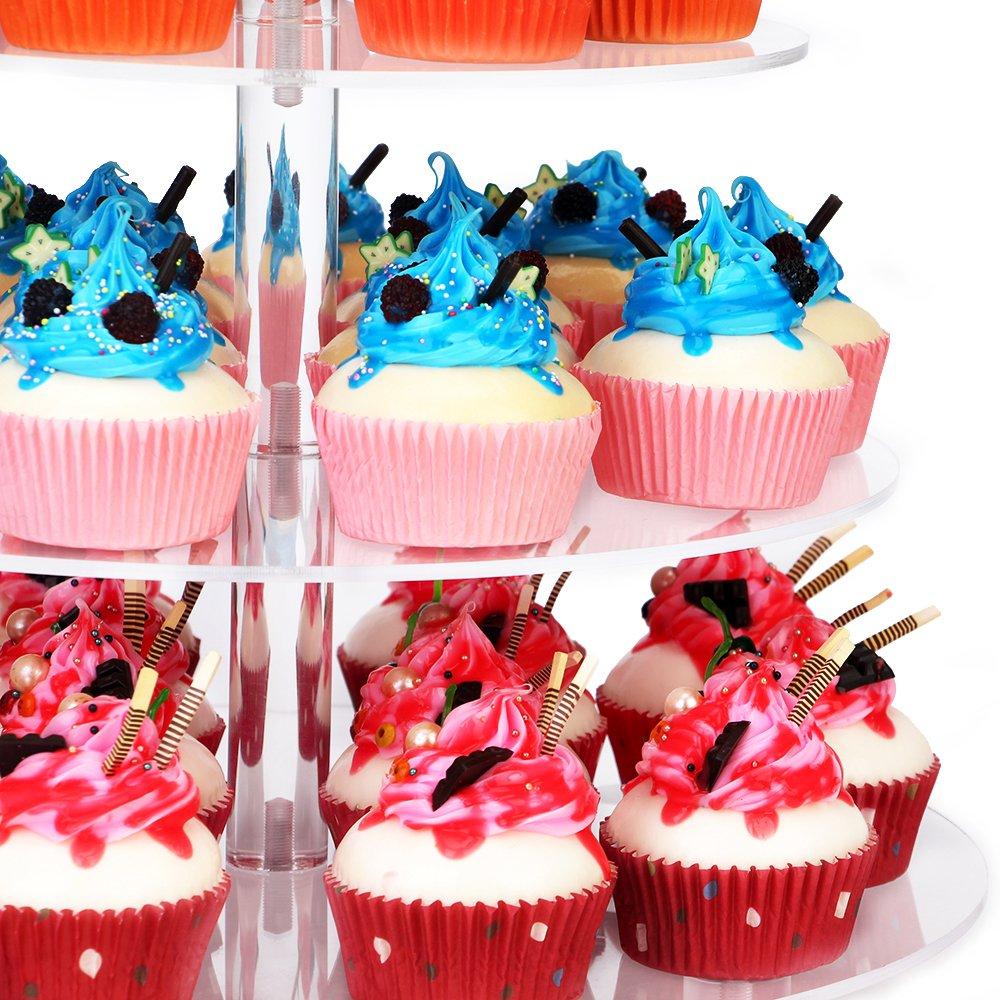 Amazon.com | NeoBee 5-Tier Round Wedding Party Acrylic cake stand ...