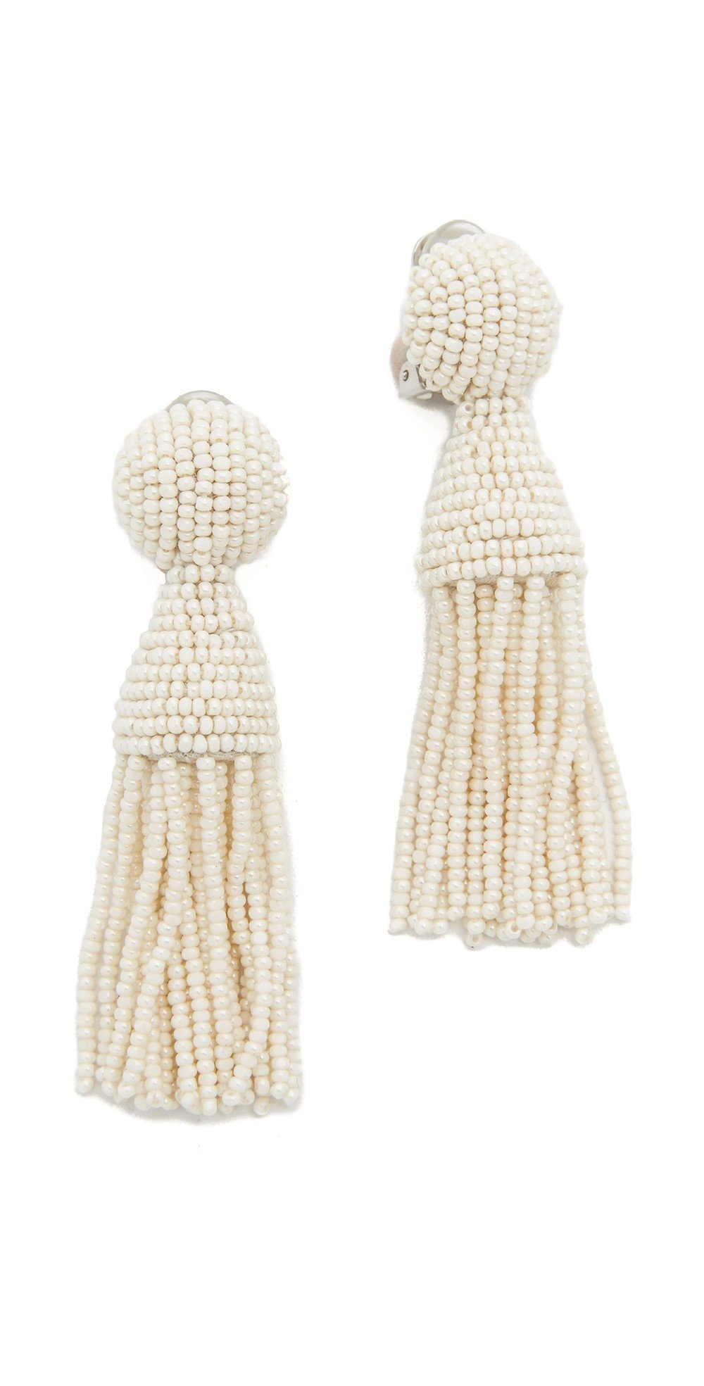 Oscar de la Renta Short Tassel Earrings by Oscar de la Renta