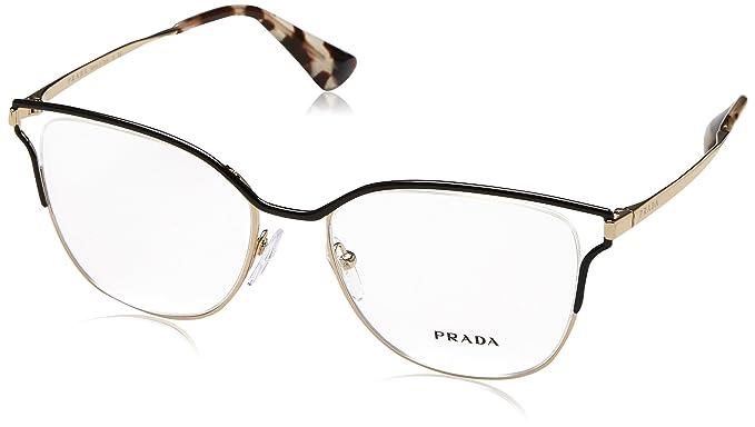 e0a5d3f1ba2a Amazon.com: Prada Women's PR 54UV Eyeglasses 53mm: Clothing