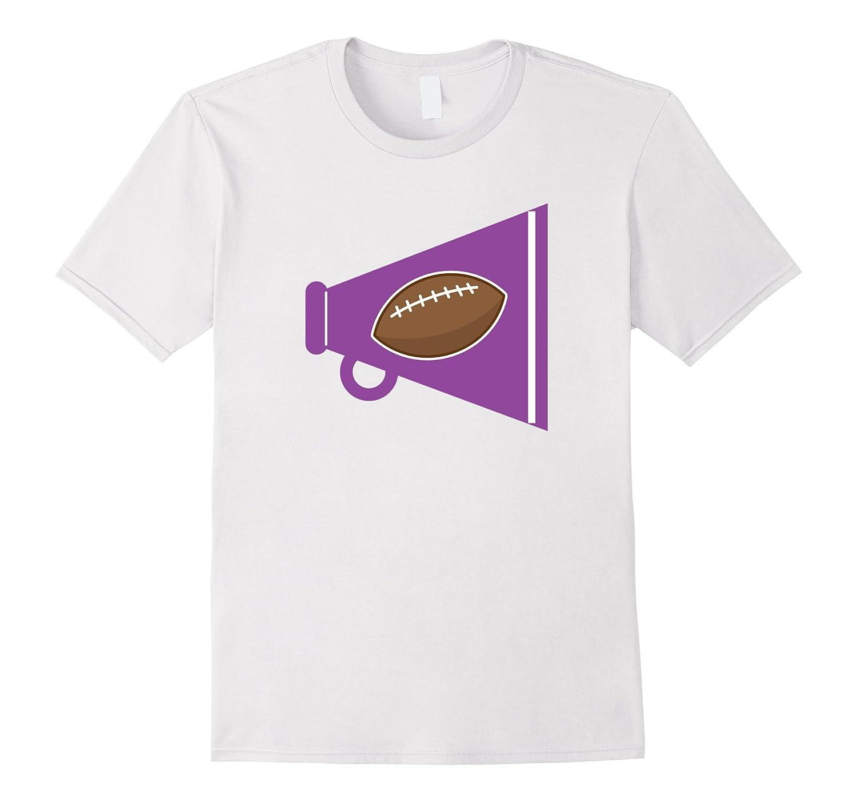 Cheerleader Gift T-shirt Cheerleading Football Megaphone Tee-CL