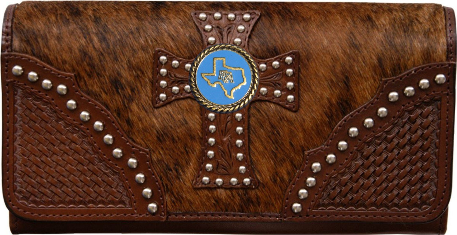 Custom Texas FFA Natural Hair Christian Clutch Wallet with removable checkbook