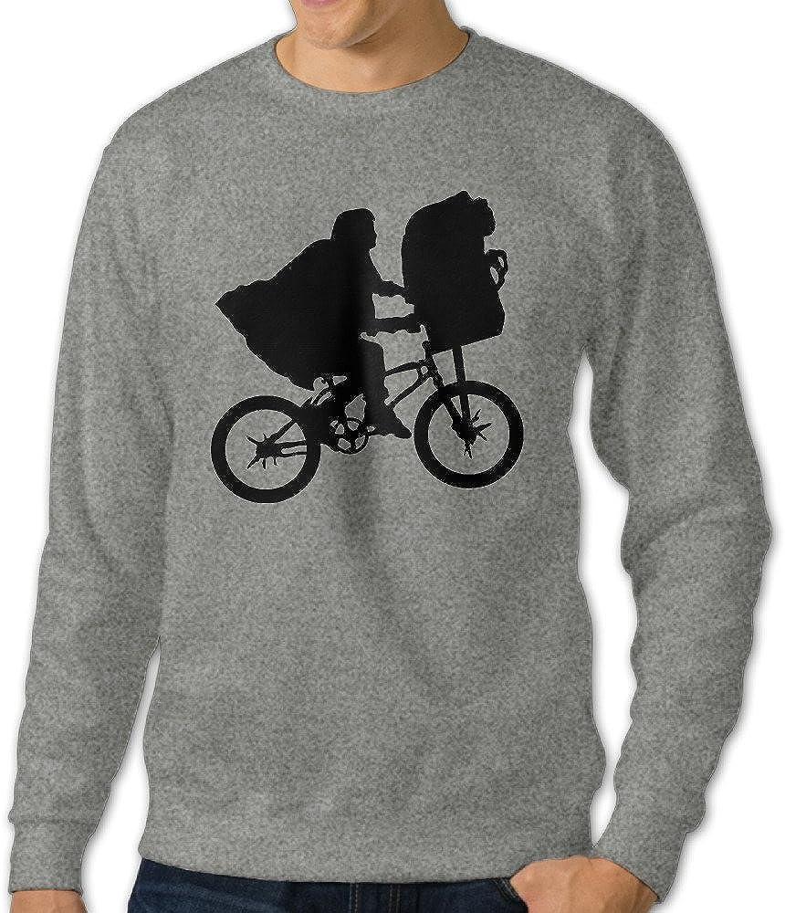 Alipapa Men's Long Sleeve Cinema et Bike Hooded Sweatshirt - Ash
