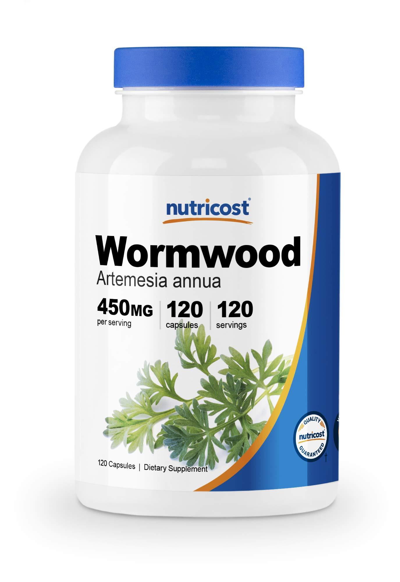 Nutricost Wormwood Capsules 450mg 120 Capsules - Vegetarian Caps, Gluten Free and Non-GMO