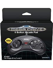 Retrobit - SEGA Mega Drive manette filaire 6 boutons - Conexion d'origine - Noire
