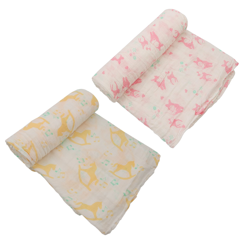Asoon Manta de muselina para bebé, 100% algodón, 2 paquetes de 117 ...