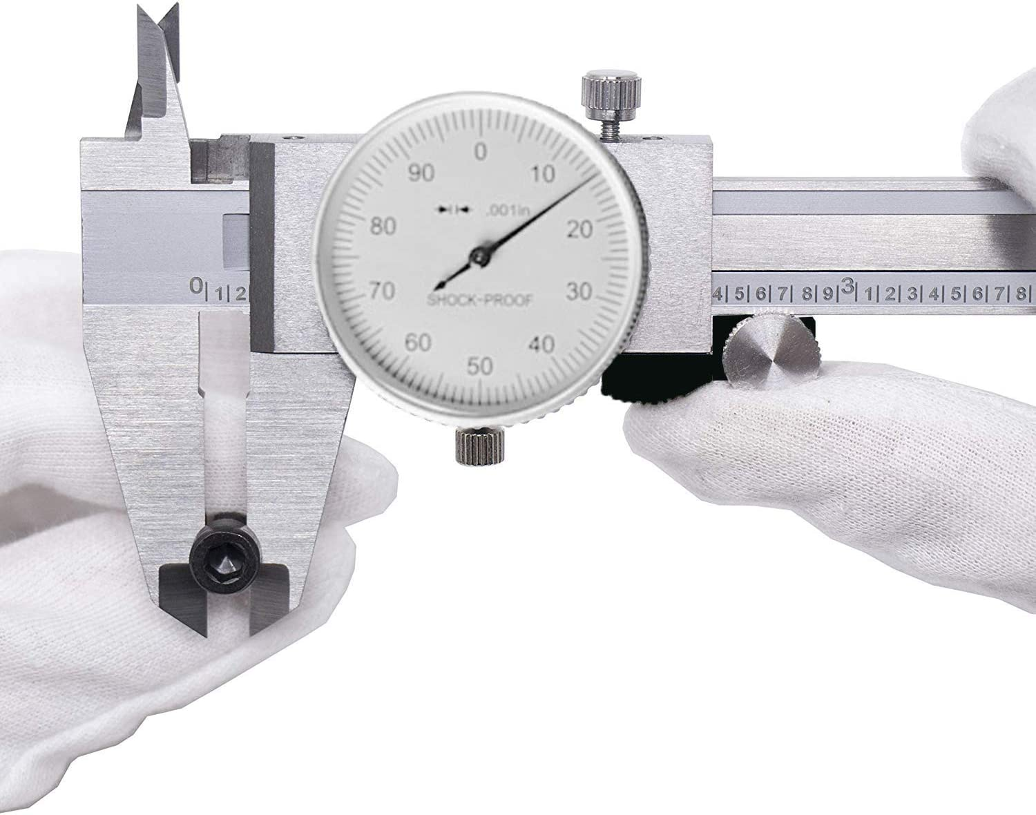 Precision Dial Caliper 0-6//0.001 Precision 0-150MM Dual Metric Inch Dial Caliper Double Shock Proof Solid Hardened Stainless Steel Caliper 6