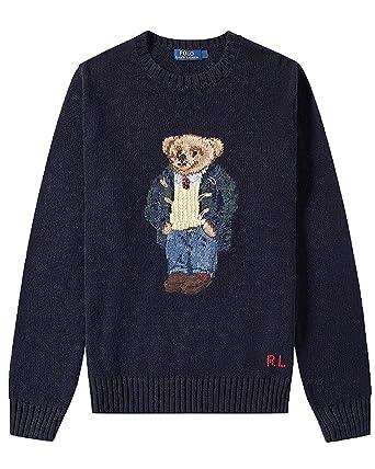 8f9e06f02cba3 Polo Ralph Lauren Preppy Bear Crew Knit Navy Sweater Cotton/Linen Navy  (3XLT)