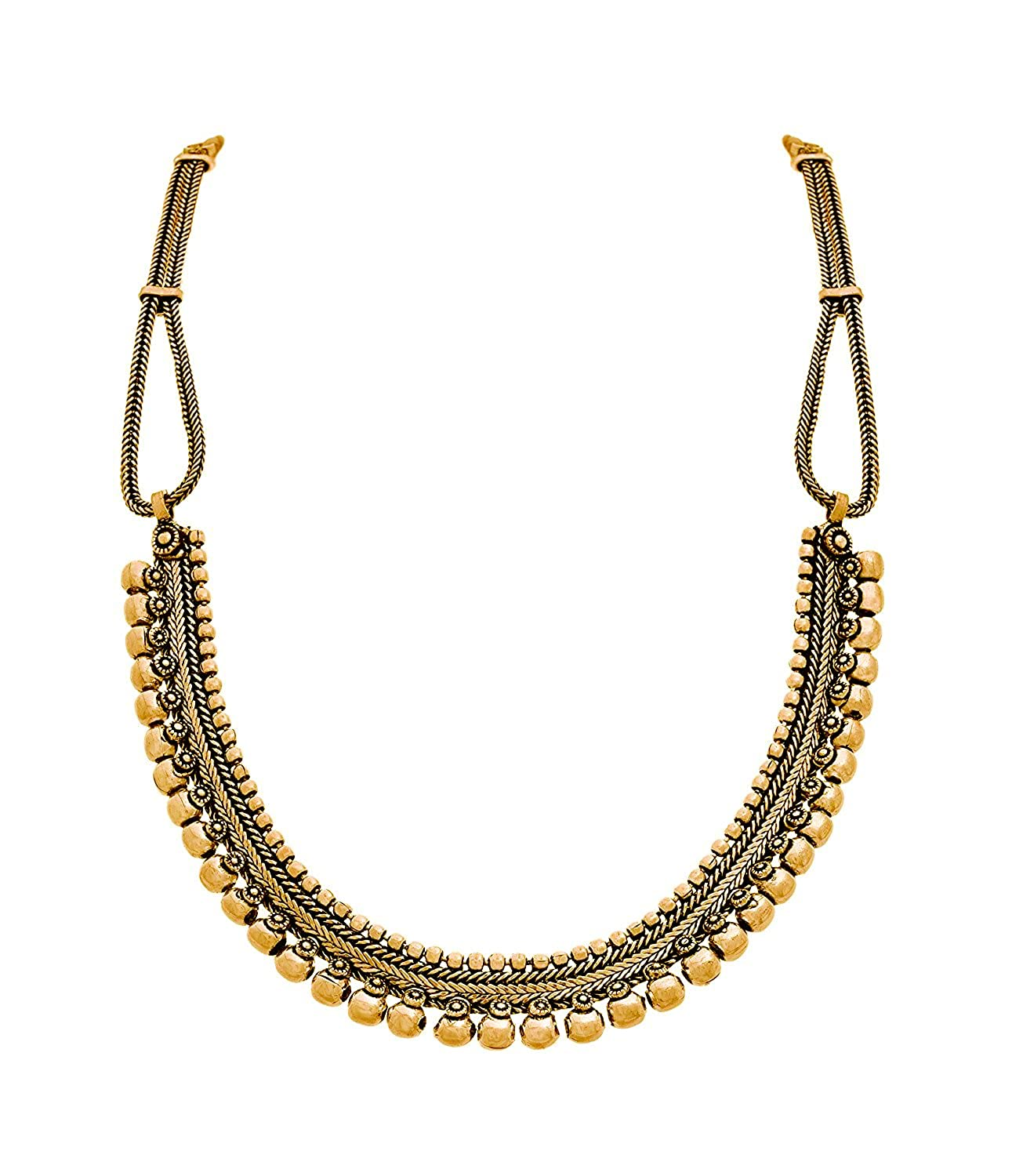 The Trendy Trendz India Bollywood Oxidized Golden Gypsy Style Necklace Jewelry for Women and Girls