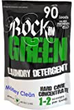 Rockin' Green Natural HE Powder Laundry Detergent for Hard Water, Perfect for Cloth Diapers, Up to 90 Loads Per Bag, 45 oz, Motley Clean Scent
