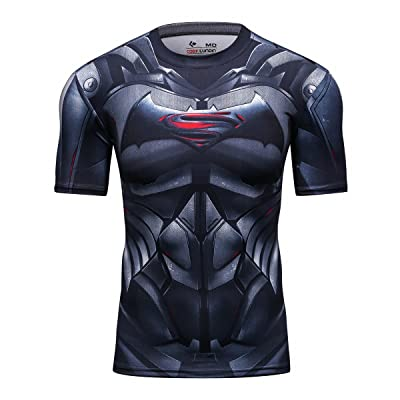 Cody Lundin Chemise Manches courtes Homme Superhéros vs Bat héros Sport Fitness Exercice Running T-Shirt