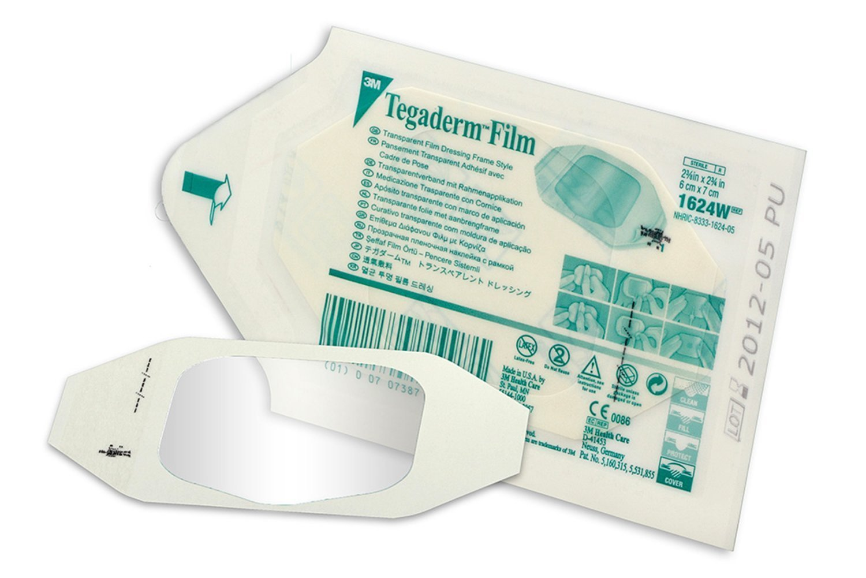 "3M Tegaderm Transparent Film Dressing 2 3/8"" x 2 3/4"" - Window Frame Box: 100"