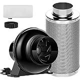 VIVOSUN 4 Inch Inline Fan, 4 Inch Carbon Filter