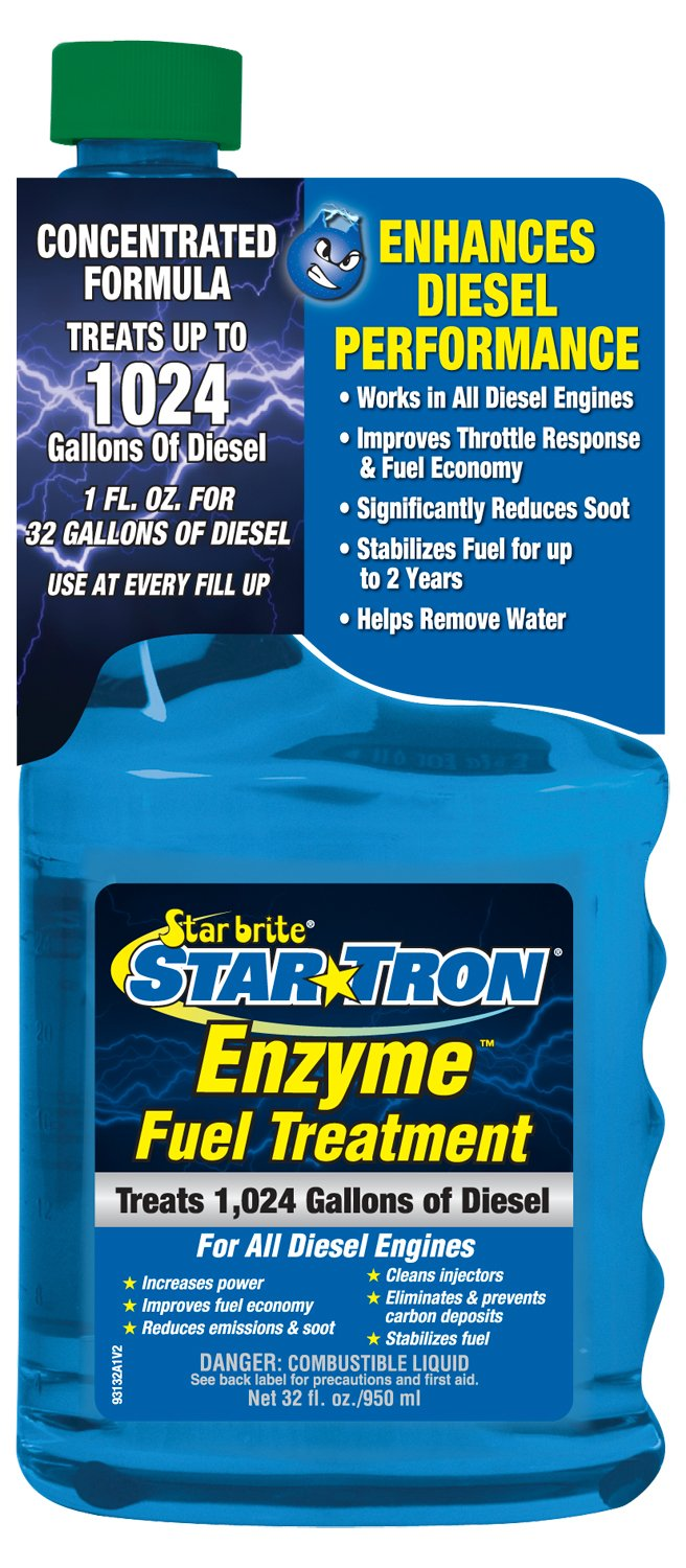 Star Tron Enzyme Fuel Treatment - Super Concentrated Diesel Formula 16 oz - Treats 512 Gallons Star brite 093116SS