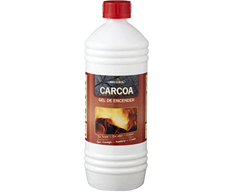 Carcoa Fuego 0319 - Gel de Encendido, 1 l, Color Rojo