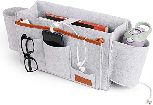 and Hospitals Phones TV Remote and More Hold N Storage Home Bedside Storage Organizer Accessories Organizers for Books For Dorm Rooms Tablets 6 Pocket Bedside Caddy Storage