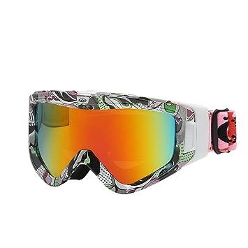11f8f7333414a3 Anti-buée Masque de Ski - Anti-UV Lunettes équitation Double Couche  Lentille Lunettes