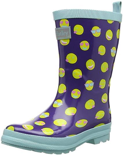 BootsBottes 500 Rain de Hatley Pluie FilleVioletEmojis srthQdC