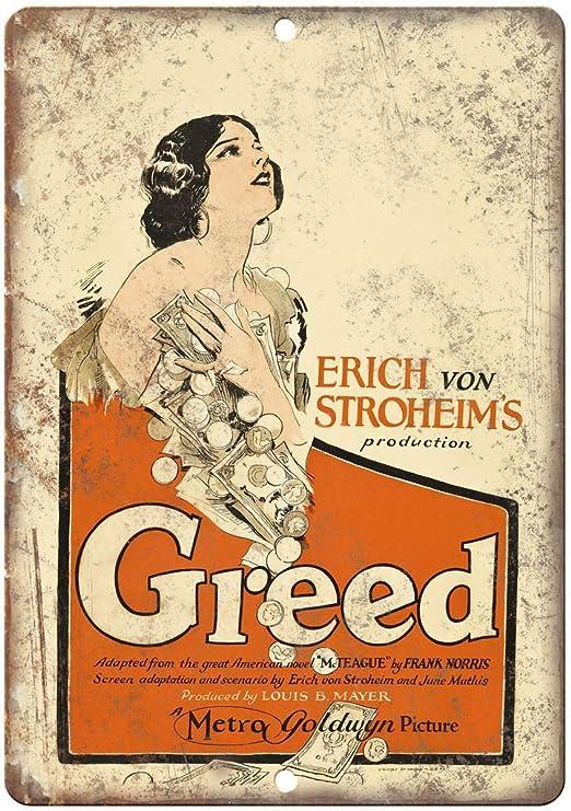 Jimoon Greed Erich Stroheim Cartel de Metal Vintage para ...
