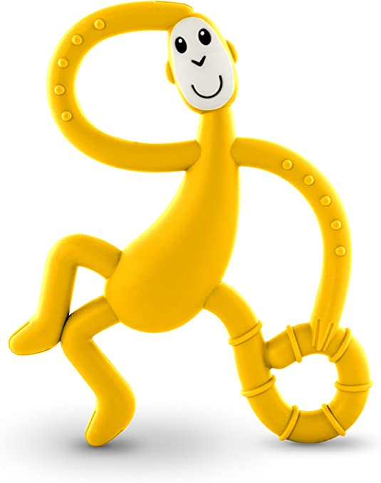 Matchstick Monkey Dancing Teether Toy Yellow
