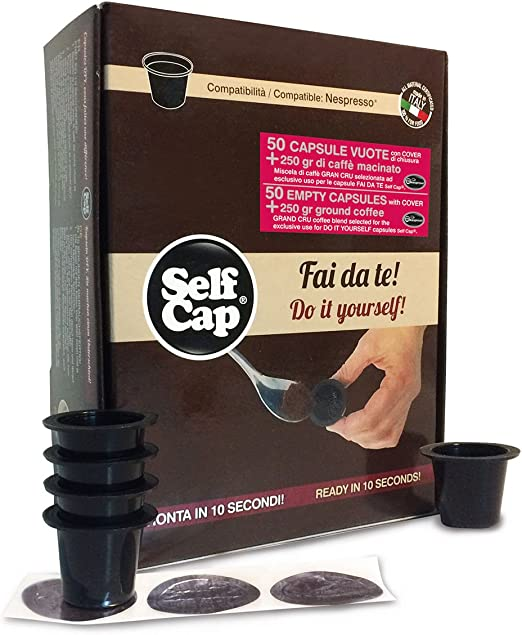 Kit Nespresso selfcap Barista compuesto de 50 Cápsulas y 250 gr ...