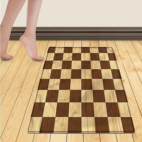 Amazon Checkered Floor Mat For Kids Empty Checkerboard Wooden