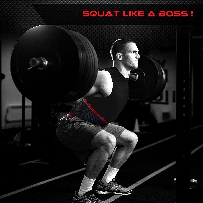 Entrenamiento levantamiento de peso cinturón para hombres y mujeres - neopreno ligero para cómodo soporte de la espalda - Ideal para sentadillas, ...