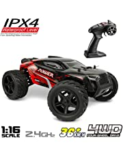 RC Monster Trucks - Hosim 1:16 Scale 4WD Remote Control RC Cars G172, High Speed 36km/h 2.4Ghz Radio Controlled RC Monster Truck Off-Road RC Truggy RTR - Waterproof /Shockproof /Anti-Skid RC Buggy Trucks for Kids and Adults