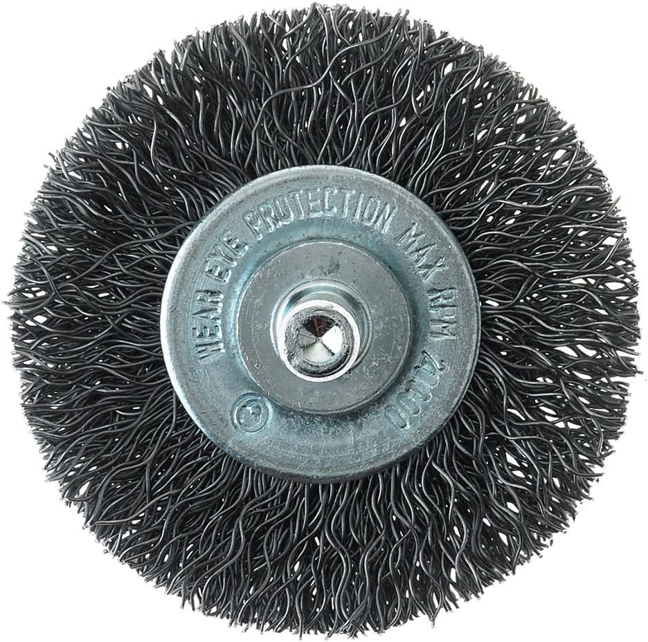 Mercer Industries 182010B Crimped Wire Wheel 1-1//2 x 1//4 Shank For Drills and Die Grinders 20-Pack