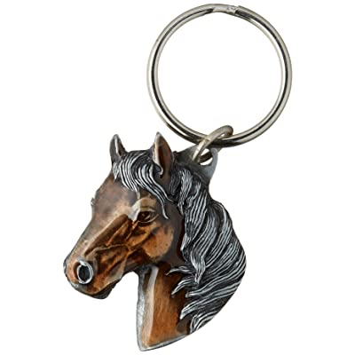 Siskiyou Automotive KR141E Metal Key Chain (Horse Head Enameled Details), 1 Pack: Automotive