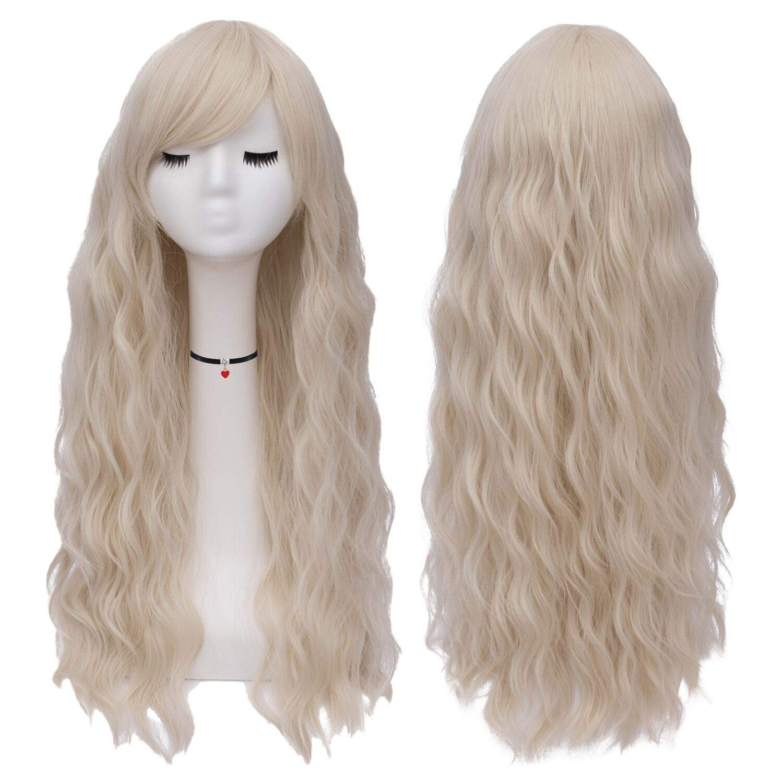 Amazon.com   Mildiso Womens Hair Wigs Long Curly Fluffy Wavy Cosplay Wigs  (Beige) M047GL   Beauty 6ac69225f5