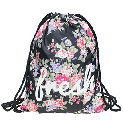 Jom Tokoy Drawstring Backpack Woman's Men's Print Sackpack