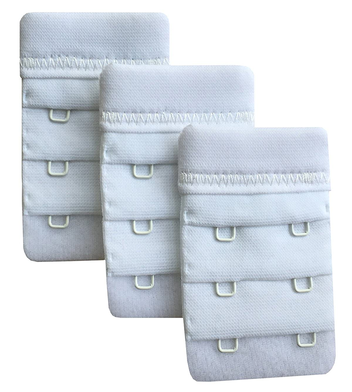Chanie Women Pack of 3 Soft Comfortable 2 Hooks Bra Extender,6.1cm x 3.8cm